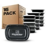 Fitpacker BPA-Free Meal Prep, Food Storage, and Portion Control Containers, Pack of 16