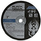 "Black Hawk 25 Pack 3"" x 1/32"" x 1/4"" Arbor Metal & Stainless Steel Cut-Off Wheels"
