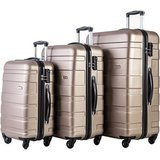 Merax ABS Lightweight Luggage Set