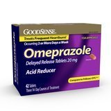 GoodSense 20mg Omeprazole Delayed-Release Acid Reducer Tablets, 42 Count