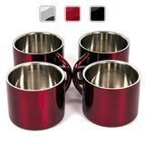 Farnsworth & Lloyd Stainless Steel Double Wall Espresso Cups