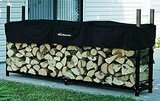 Woodhaven 8 Foot Firewood Log Rack with Cover