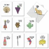 The Best Card Company Fun Puns Blank Note Cards