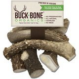 Buck Bone Organics Whole Deer Antlers Dog Chews, 1-lb bag