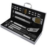 Home-Complete Stainless Steel Grill Set, 16 Piece