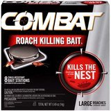 Combat Roach-Killing Bait, Large Roach Bait Station, 8-Count