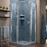 DreamLine Cornerview Framed Corner Sliding Shower Door Enclosure
