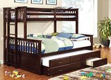 Furniture of America Twin-Over-Queen Bunk Beds