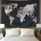 Bluem Cade World Map Tapestry