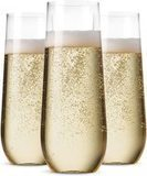 Munfix 48-Pack Stemless Champagne Flutes