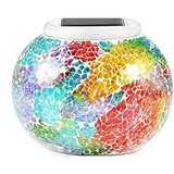 Pandawill Color-Changing Solar Powered Glass Ball